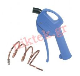 All-purpose blow gun body - long malleable copper nozzle
