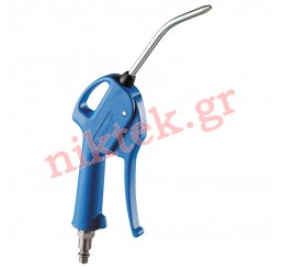 Blow gun with composite nozzle - fitted with plug