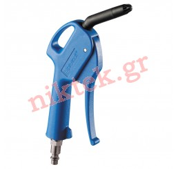 Blow gun with silent nozzle - fitted with plug
