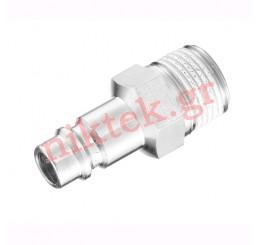 S/STEEL Tapered male thread adaptor G 1/4