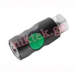 Tαχυσύνδεσμους one push από ανοξείδωτο ατσάλι με εσωτερικά ίσια πάσα G 1/2